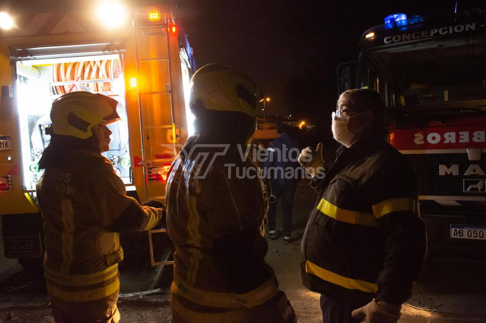 bomberos voluntarios incendio obrador municipal concepción